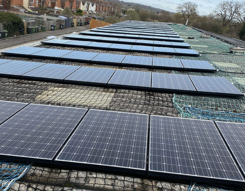 cleaning on solar panels