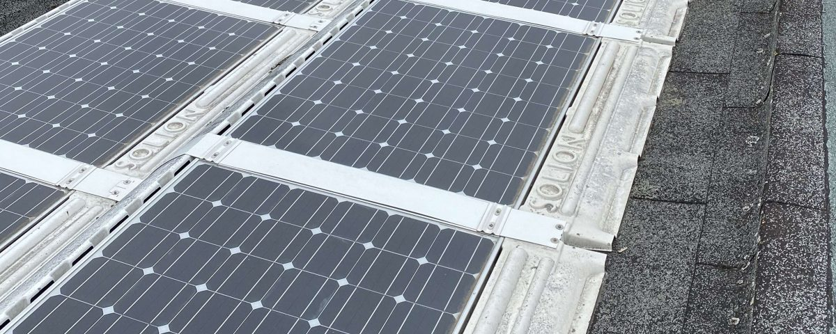 commercial cleaning on solar panels
