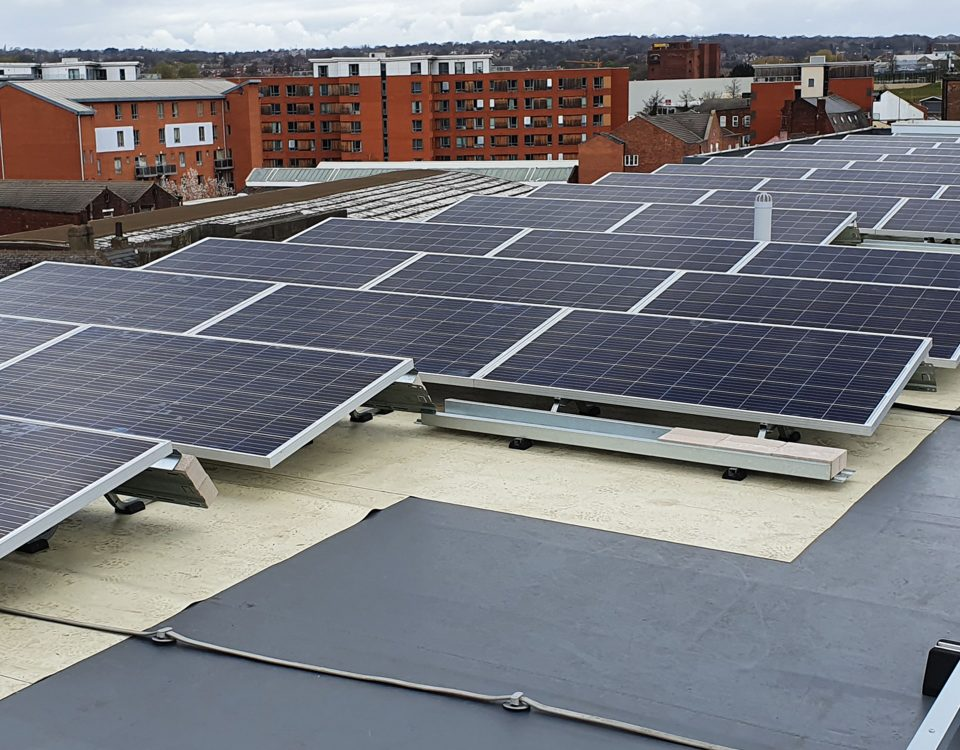 solar panel installation commercial building