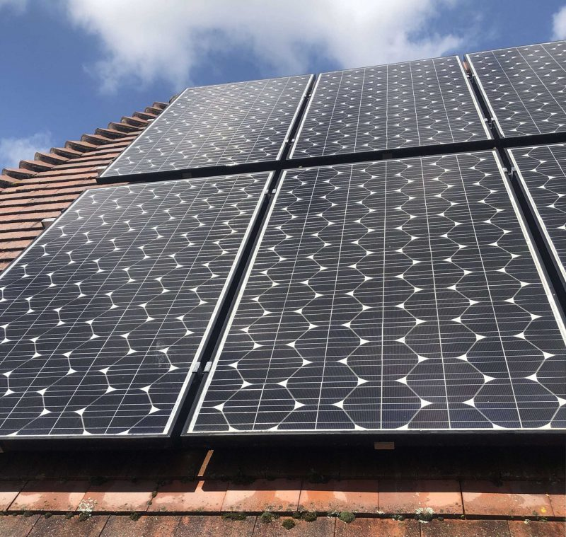 Domestic Solar Cleaning & Maintenance For A Client In  Hampshire