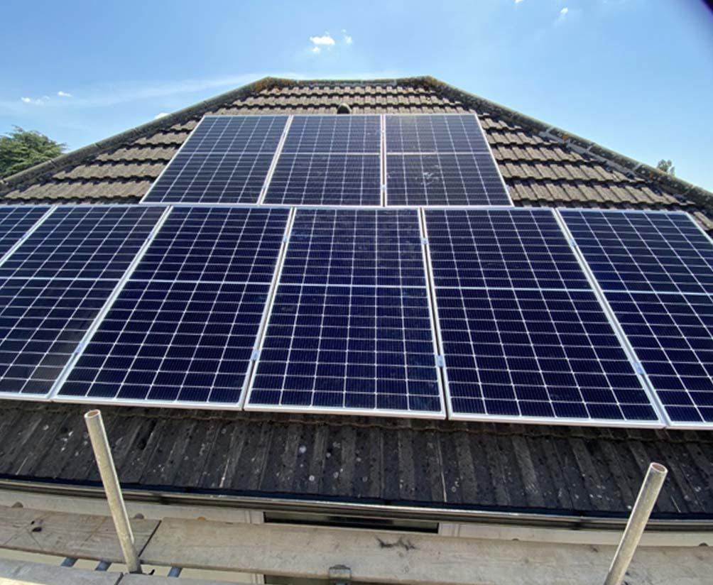 domestic solar panel install