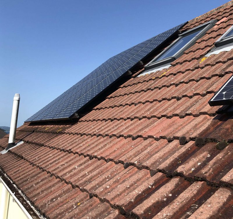 Domestic Solar Cleaning & Maintenance For A Client In  Dorset