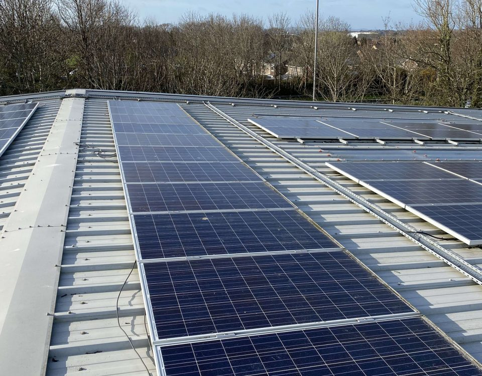 commercial solar cleaning