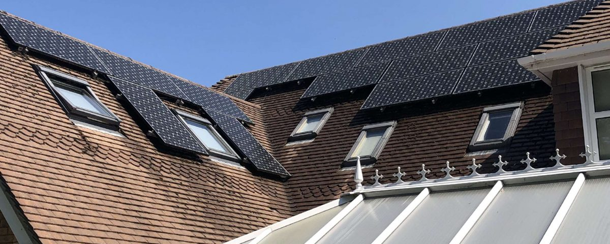 domestic clean on solar panels