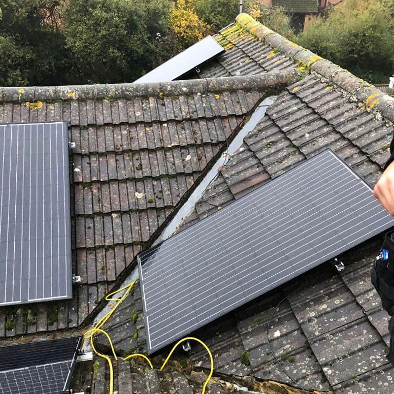 Solar panel clean in Verwood