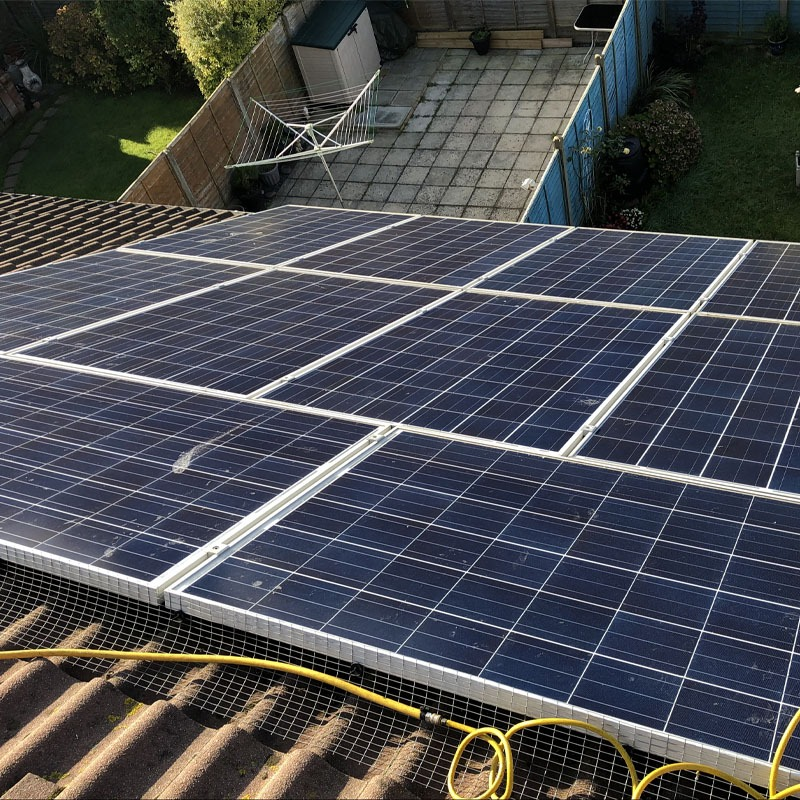 Domestic solar panel clean