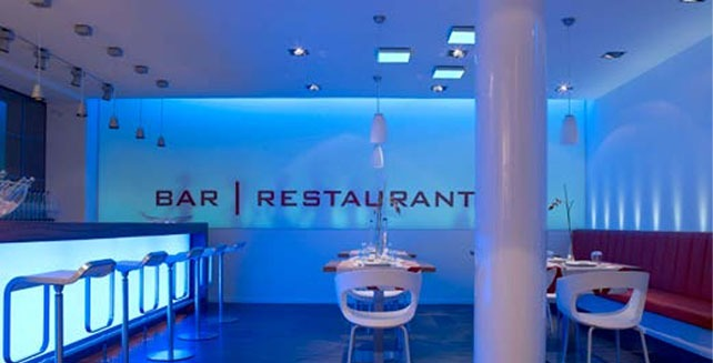 Led lighting in restaurant