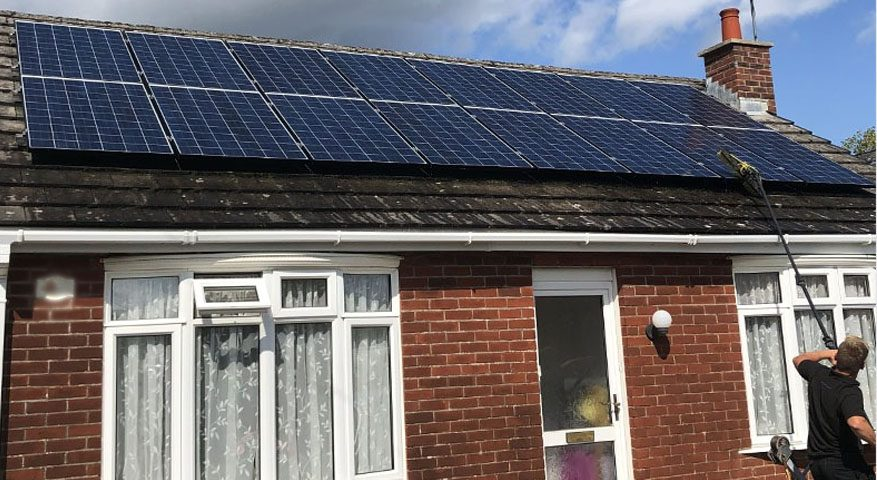 Solar maintenance clean on roof in Ringwood