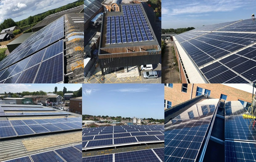 Commercial Solar upgrade collage