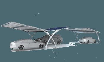 Solar cars under carport