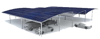 Large solar carport