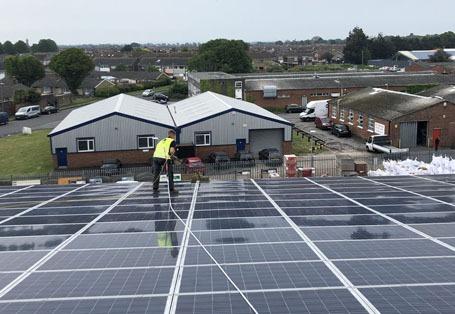 Commercial solar maintenance for web