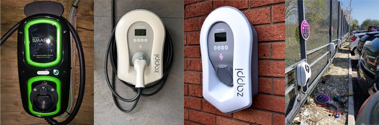 electric car chargeing installation