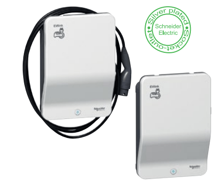 EVlink Wallbox and cable
