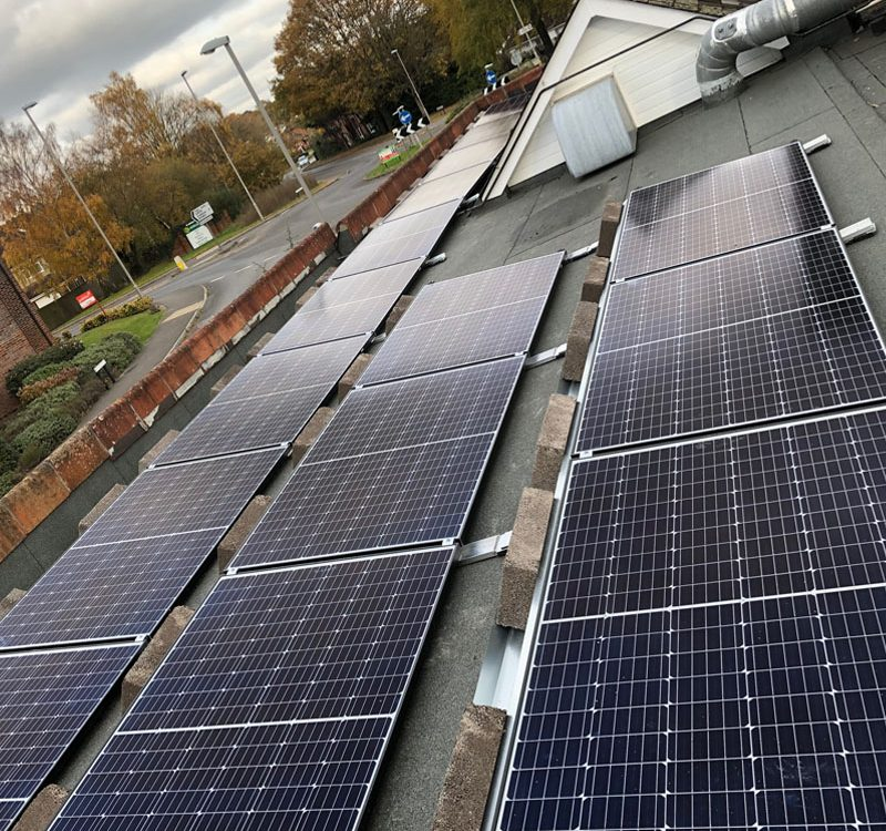 Solar installation in Verwood