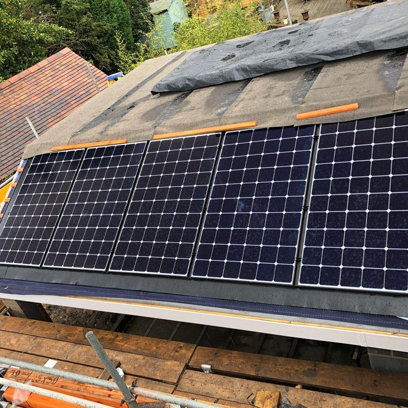 In-roof solar installation