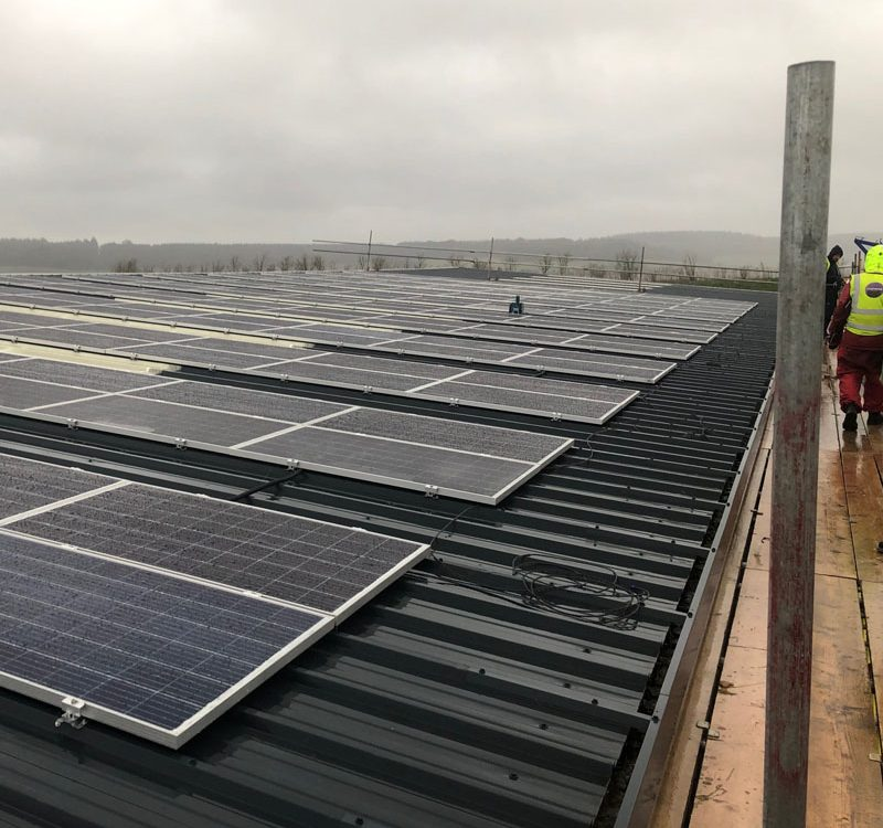 Solar installation on roof