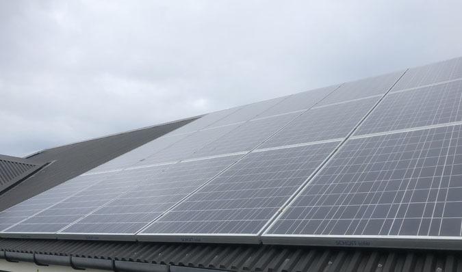Solar panel maintenance clean in Portland