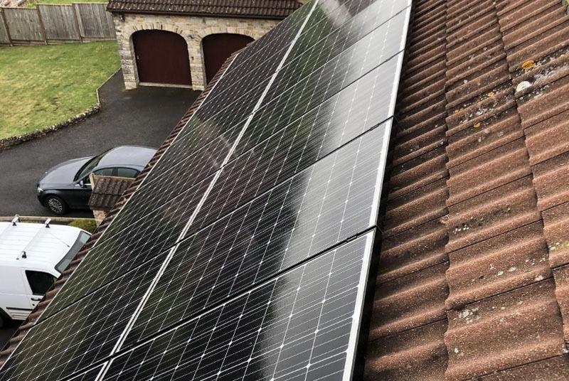 domesti solar on roof