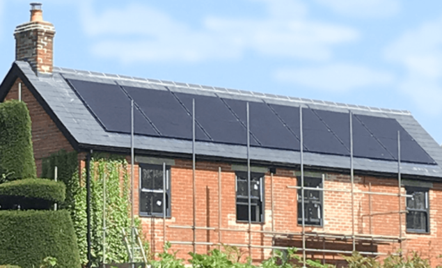 in roof black panels for web