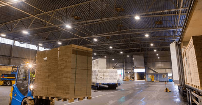 led lighting for warehouse web page