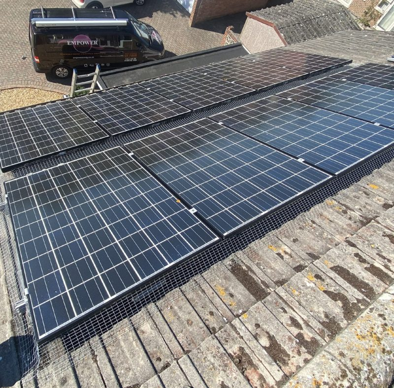 Domestic Solar Pigeon Meshing Installation For A Client In Dorset