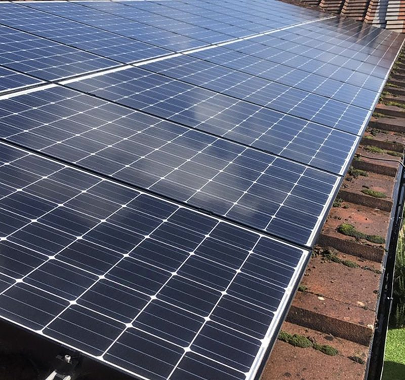domestic solar cleaning on panels