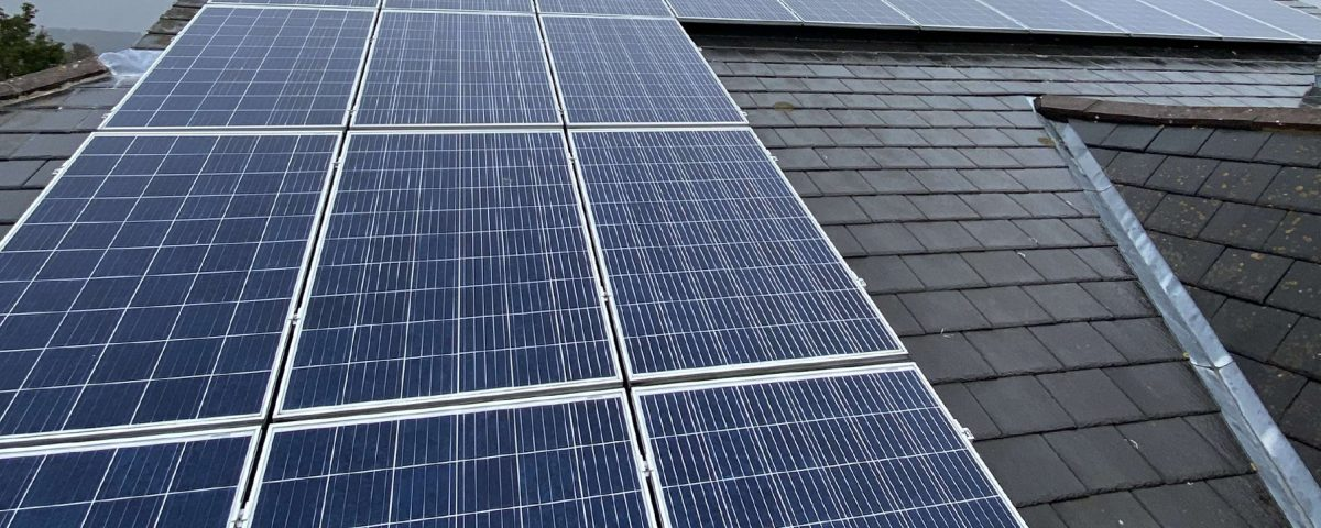 cleaning on domestic solar panels