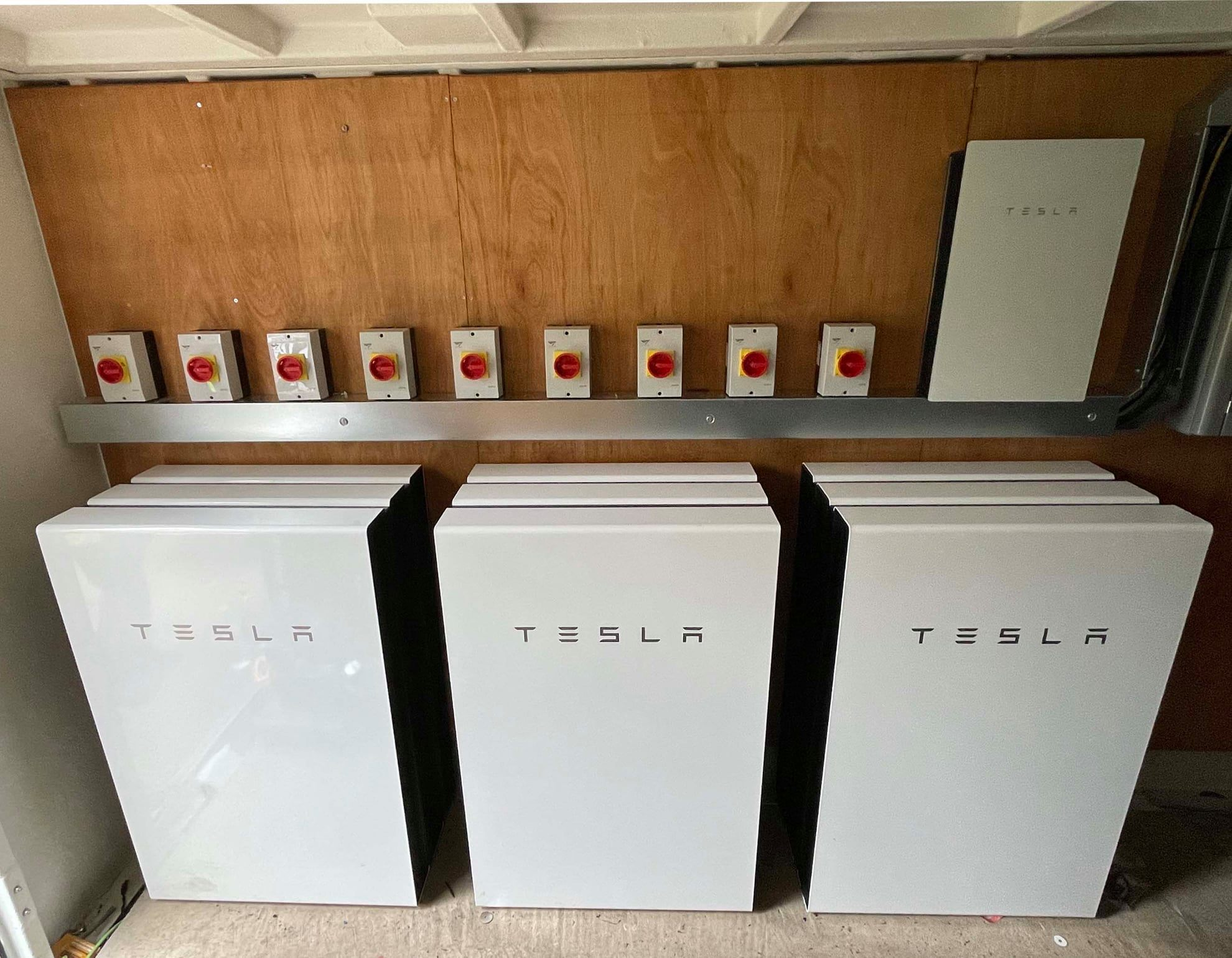 tesla home battery photo collage