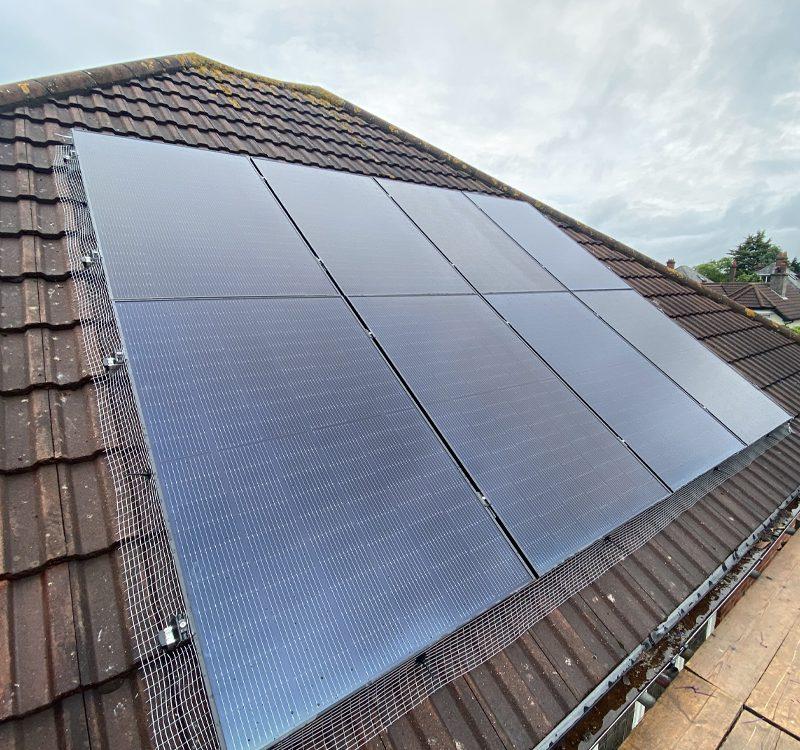 domestic solar install