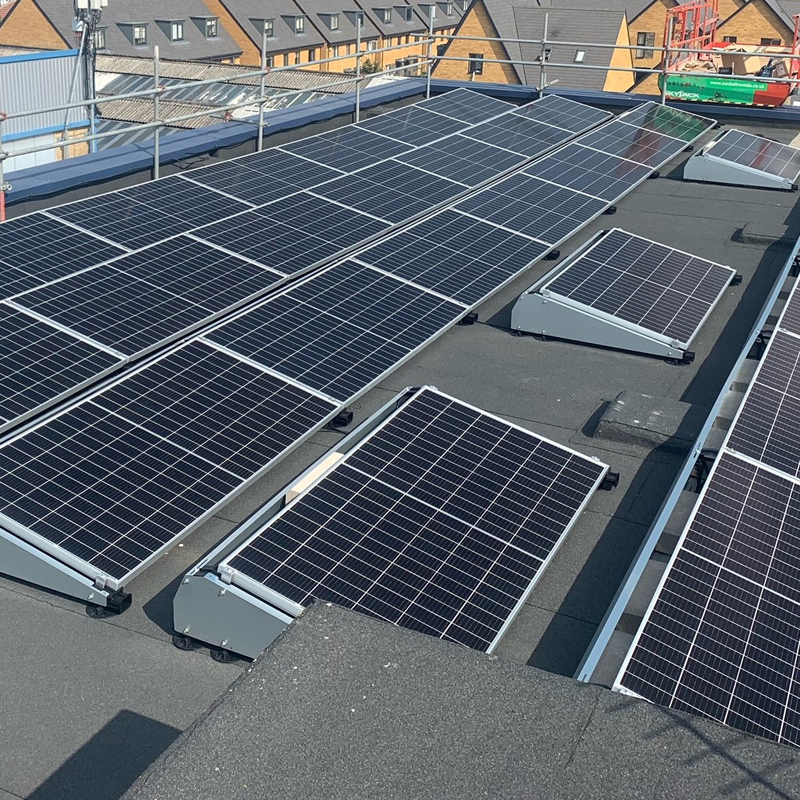 pv installation on roof