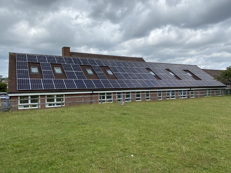 solar pv installation on commercial roof